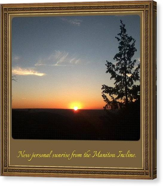 Sunrise Horizon Canvas Print - I Get A New One Every Time! #personal by James Sibert
