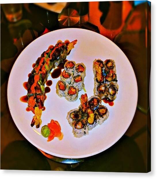 Tuna Canvas Print - I Had Dinner Last Night With My by Harvey Christian