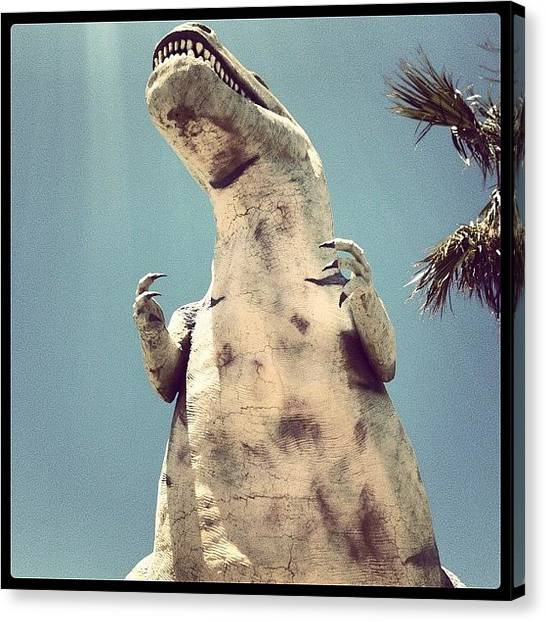 Dinosaurs Canvas Print - I Have A Big Head And Little Arms. I by Christine Gallis