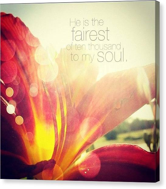 Florals Canvas Print - i Have Found A Friend In Jesus by Traci Beeson