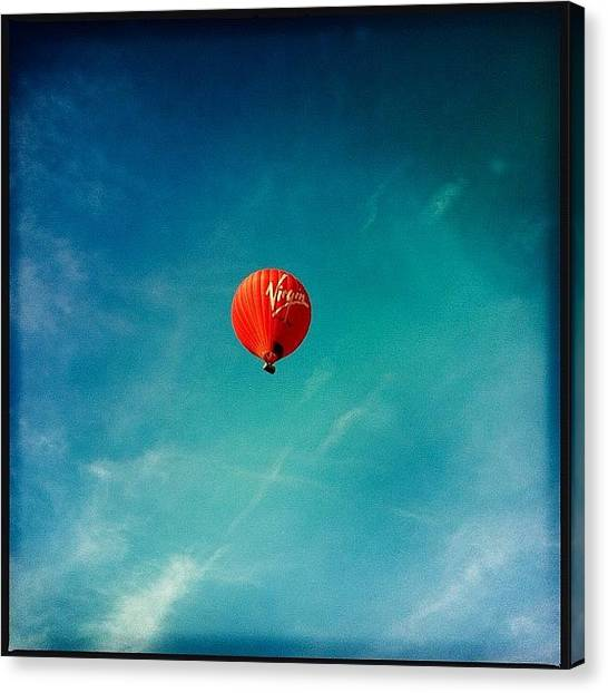 Hot Air Balloons Canvas Print - I Have Never Done It Before But I Saw by Daniela Leach
