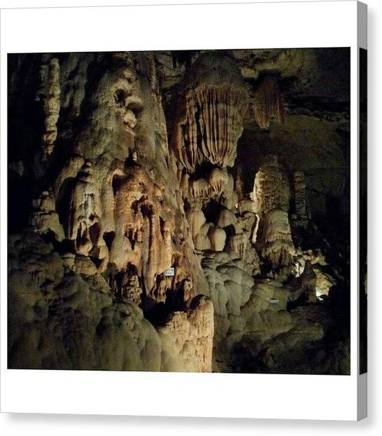 Stalagmites Canvas Print - I Just Brought The Light Up A Little; by Clifford McClure