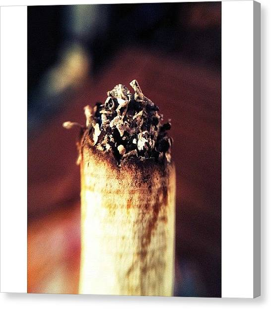Ashes Canvas Print - I Know – Smoking Is Bad. But Isn't by Melanie Stork