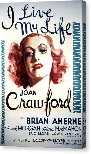 I Live My Life, Joan Crawford, 1935 Canvas Print by Everett
