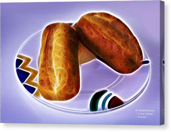 I Love Bread Canvas Print