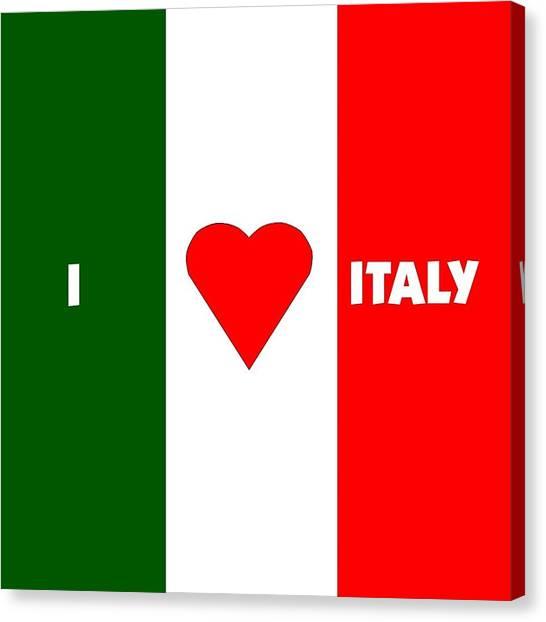 I Love Italy Canvas Print by Florene Welebny
