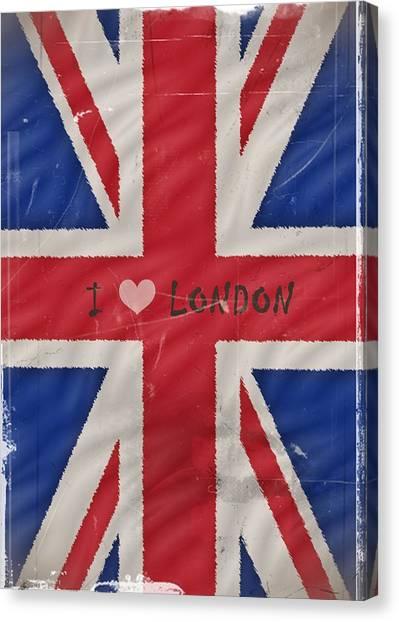 I Love London Canvas Print by Sharon Lisa Clarke
