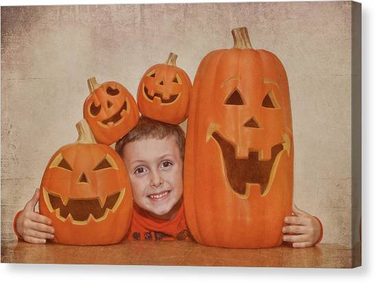 I Love Pumpkins Canvas Print by Pat Abbott