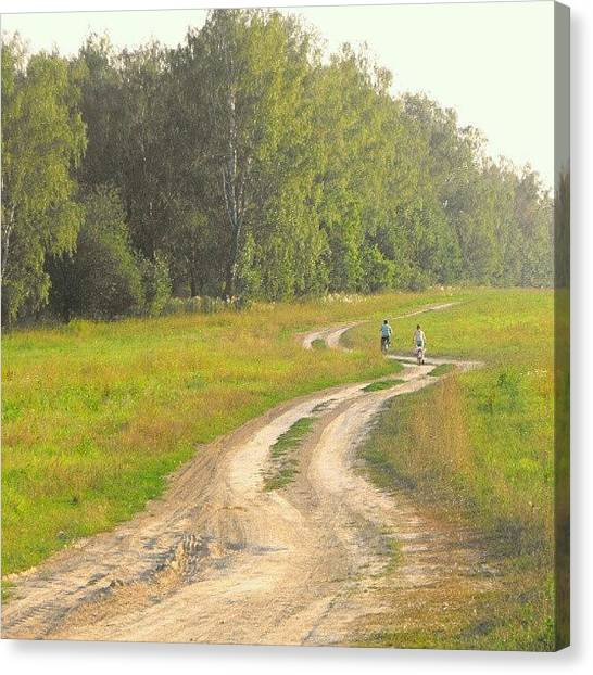 Russian Canvas Print - I Love #russian #country #road S by Alexandra Cook