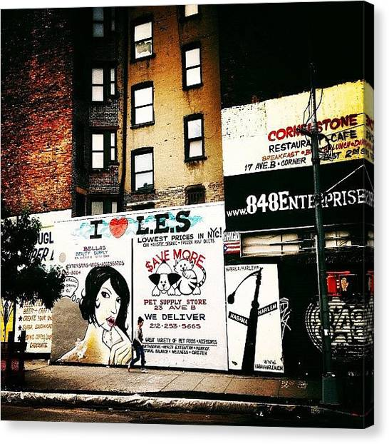Cool Canvas Print - I Love The Lower East Side - New York City by Vivienne Gucwa