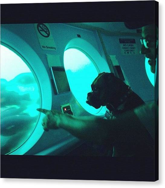 Submarine Canvas Print - I Love This One. Hubby Is Pointing Out by Susan Scott