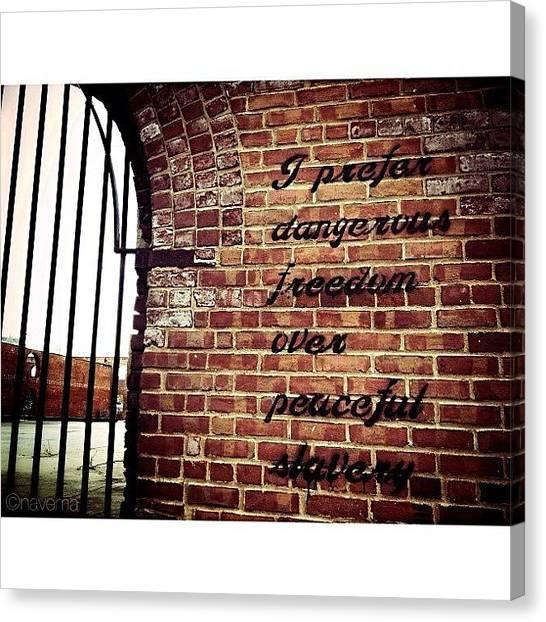 Graffiti Canvas Print - i Prefer Dangerous Freedom Over by Natasha Marco