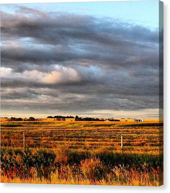 Manitoba Canvas Print - I Really Enjoyed The #clouds This by Christine Huberdeau