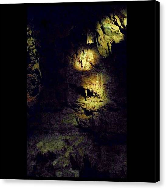 Stalagmites Canvas Print - I Really Like This Picture by Clifford McClure