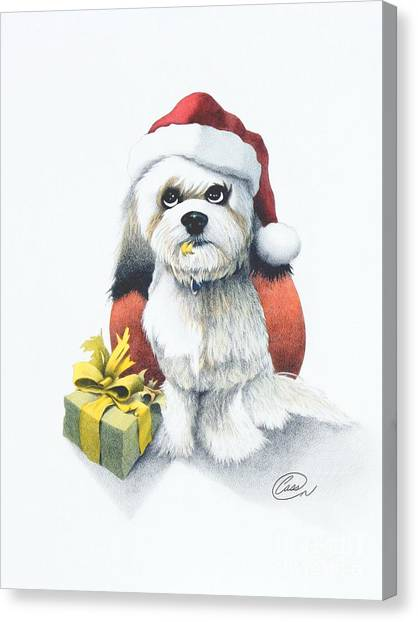 I Rove Christmas Canvas Print by Albert Casson