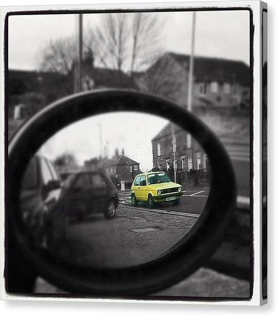 Volkswagen Canvas Print - I Spy In My Wing Mirrors Eye... #mk1 by Holly Peters