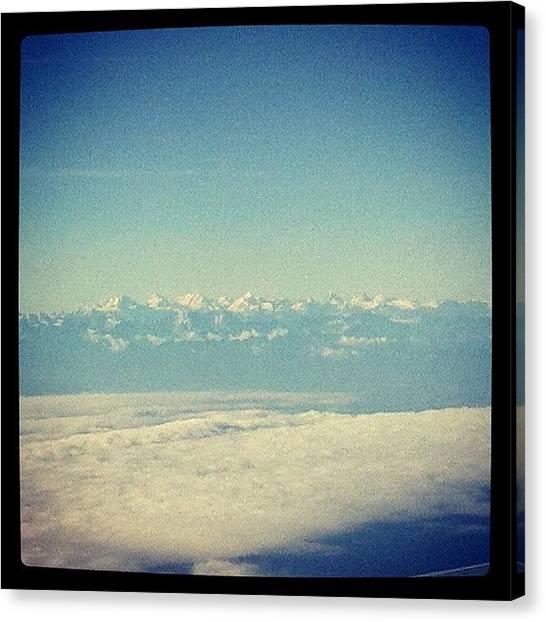 Soda Canvas Print - I Spy... The Alps by Soda Love