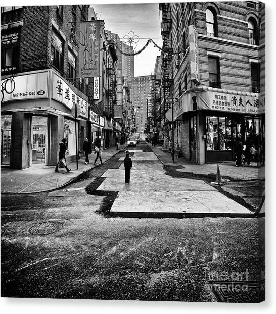 China Town Canvas Print - I Stand Witness by John Farnan