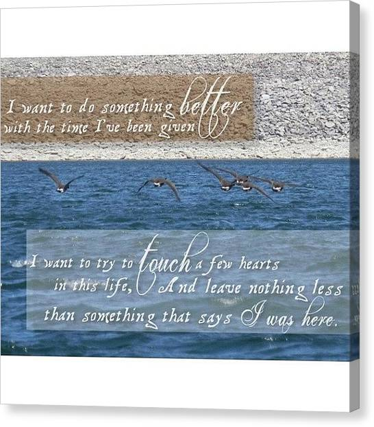 Flying Canvas Print - I Was Here // Lady Antebellum • by Traci Beeson