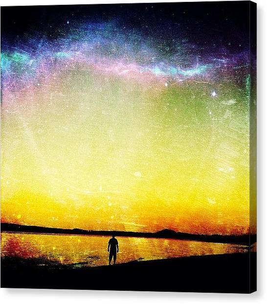 Wizards Canvas Print - I Was #tapping Some #mana, #casting A by Shawn Ross