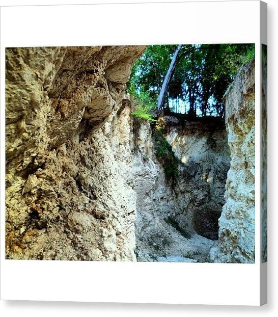 Limestone Caves Canvas Print - I Went To A #limestone #cave Under by Clifford McClure