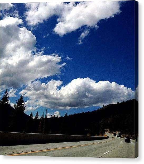 Interstates Canvas Print - I80 Near #truckee #dinner #california by Yoni Mayeri