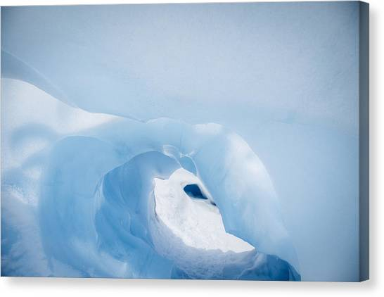 Fox Glacier Canvas Print - Ice Cave, Fox Glacier, New Zealand by Jeffrey Conley