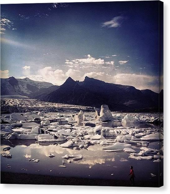 Glaciers Canvas Print - #ice #igers #iceland #glacier #lagoon by Lilja Arnthorsdottir