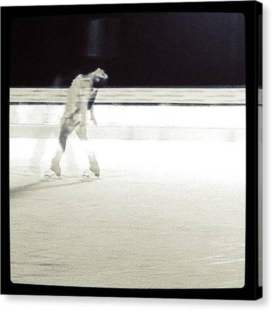 Ice Skating Canvas Print - Ice Skating At Bondi Beach by Susannah Mchugh