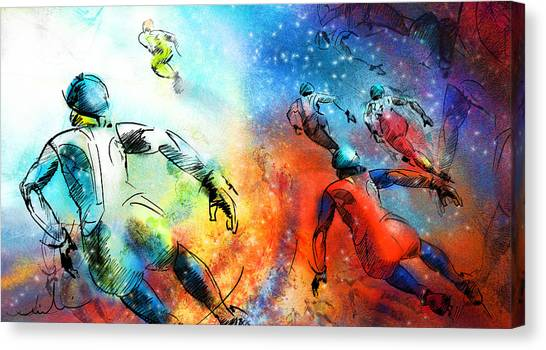Speed Skating Canvas Print - Ice Speed Skating 03 by Miki De Goodaboom