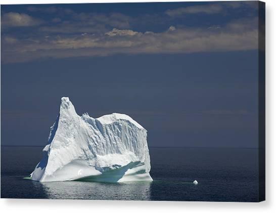 Newfoundland And Labrador Canvas Print - Iceberg, Near Twillingate, Newfoundland by John Sylvester