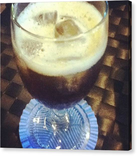 Soda Canvas Print - #icedtea Because 3sh Doesn't Want To by Shane Austin Garcia Urbano