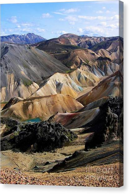 Iceland Landmannalaugar Canvas Print by Bernard MICHEL