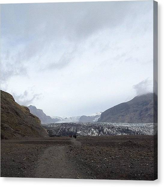 Glaciers Canvas Print - #iceland #skaftafell #glacier #ice by Linda Bjorling
