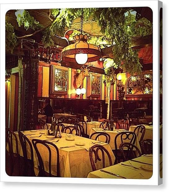 Restaurants Canvas Print - Ich Liebe Diessen Ort by Natasha Marco