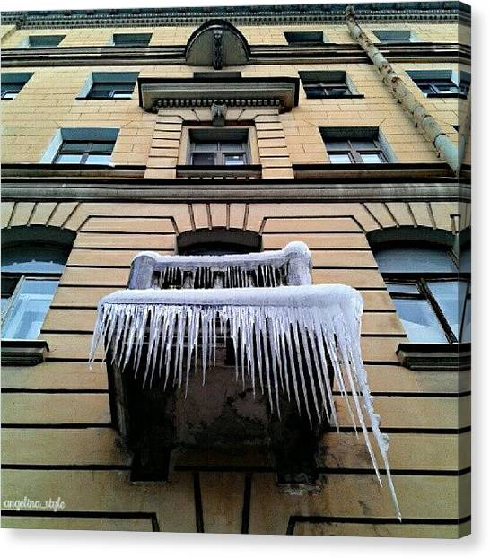Snowflakes Canvas Print - Icicles In Saint-petersburg 💎 💎 by Angelina Golovina