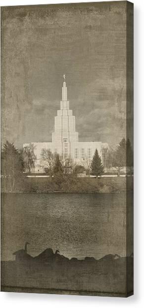 Idaho Falls Temple Verticle Canvas Print