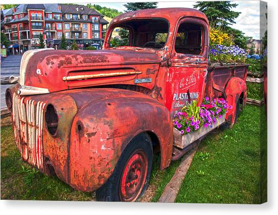 If You Cant Drive It Anymore   Turn It Into A Planter Canvas Print