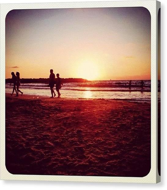 Beach Sunsets Canvas Print - #igers #israel #israeli #israelhot by Ilan Mizrahi