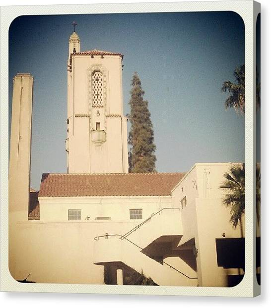 Palm Trees Canvas Print - Iglesia by Mary Griffin