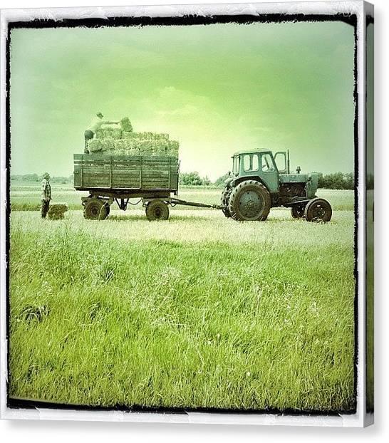 Tractors Canvas Print - #igukraine #ukraine #porusski #jj by Odarka Shevchenko