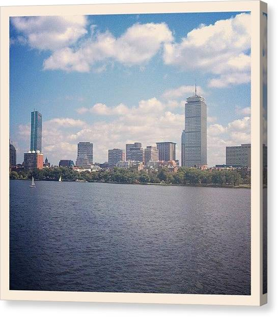 Sailboats Canvas Print - #iheartboston #igersboston by Josue C