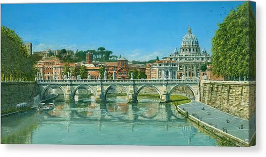 Fibonacci Canvas Print - Il Fiumi Tevere Roma by Richard Harpum