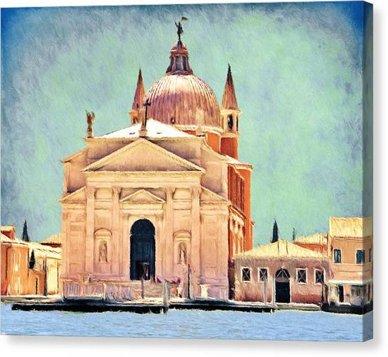 Canal Canvas Print - Il Redentore by Jeffrey Kolker