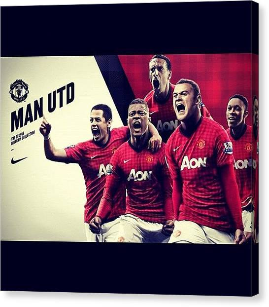 Manchester United Canvas Print - I'll Die A Satisfied United Fan by Timothy Theodore