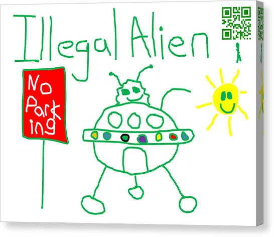 Illegal Aliens Canvas Print - Illegal Alien by Jeffrey Church