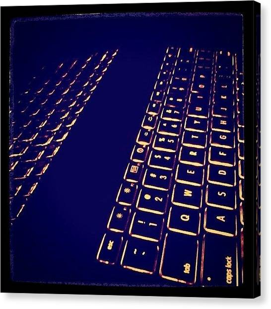 Keyboards Canvas Print - Illuminated by Marissa Soragnese