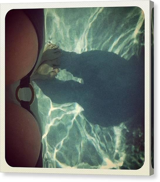 Bikini Canvas Print - #illusion #boobs #breasts #girl #round by Maria Lankina