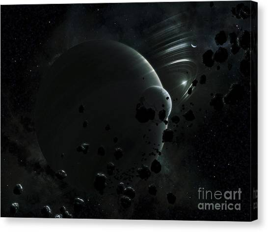 Planetoid Canvas Print - Illustration Of Tyche, A Hypothetical by Kevin Lafin