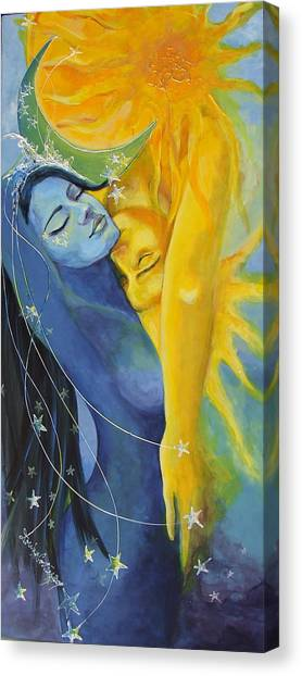 Celestial Canvas Print - Ilusion From Impossible Love Series by Dorina  Costras